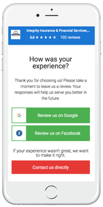 Soliciting reviews - mobile