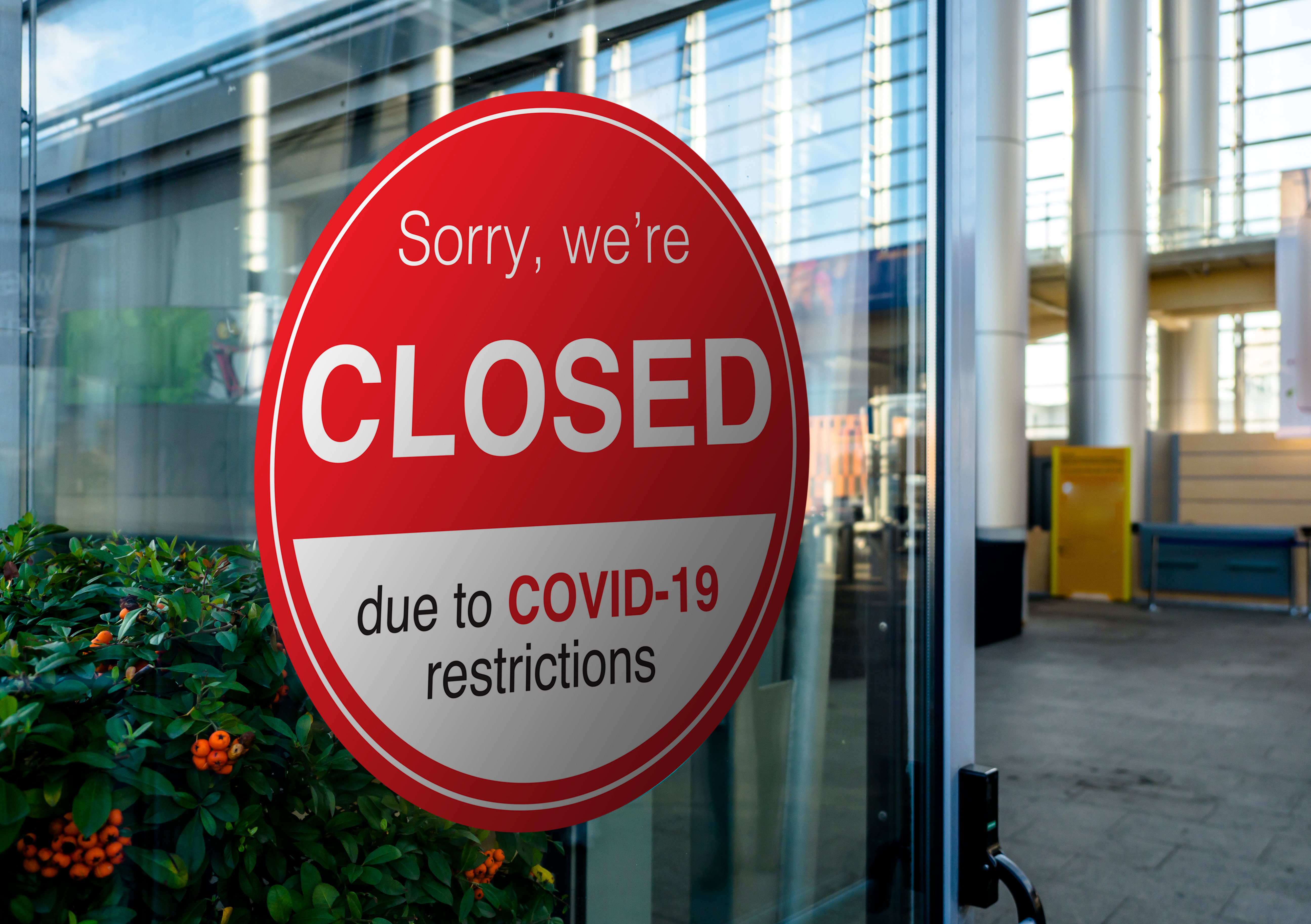 Business closed due to COVID-19 restrictions