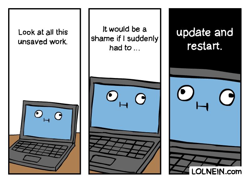 OS update comic - LOLNEIN