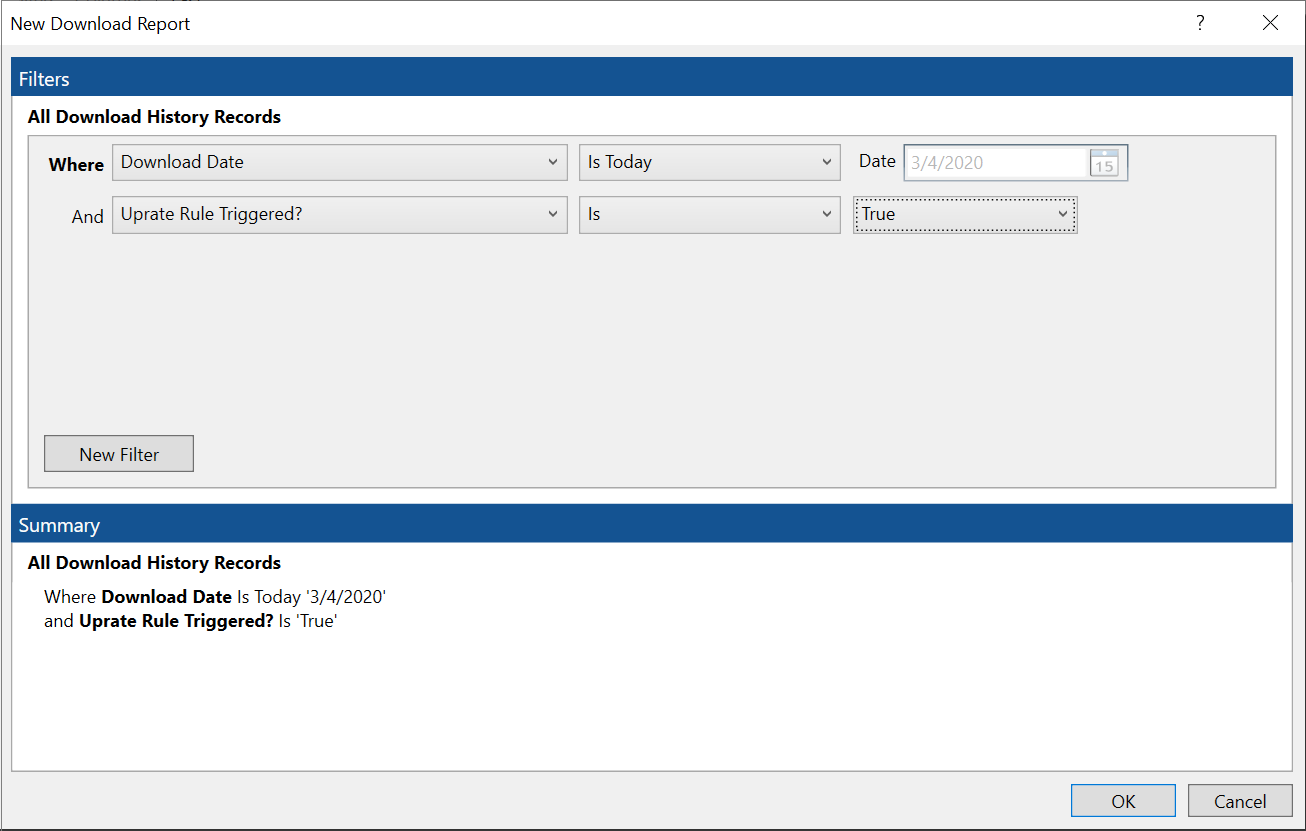 HawkSoft Download Report with filters