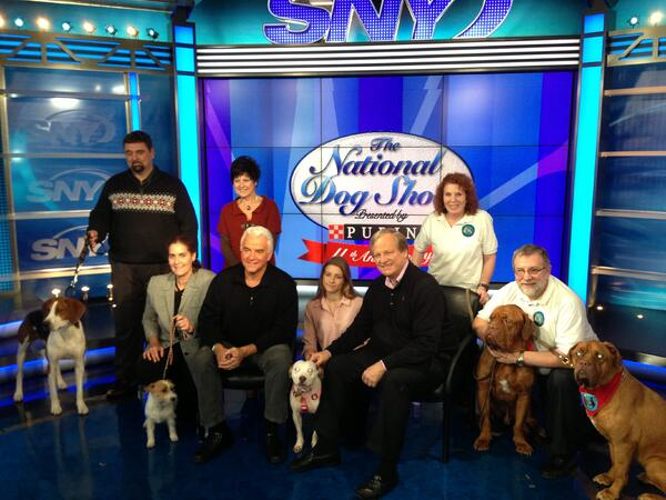 Steven Kramer with Therapy Dogs International at the National Dog Show