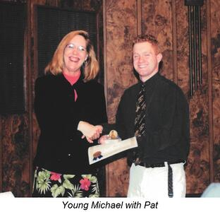 Young Michael with Pat