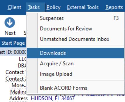 HawkSoft - process carrier downloads