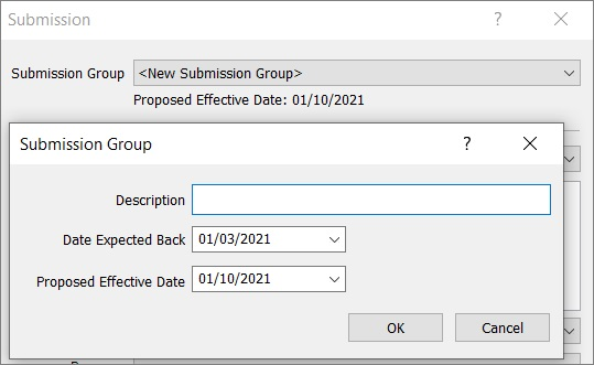Creating a submission group