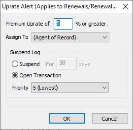 Uprate Alerts - set download rule