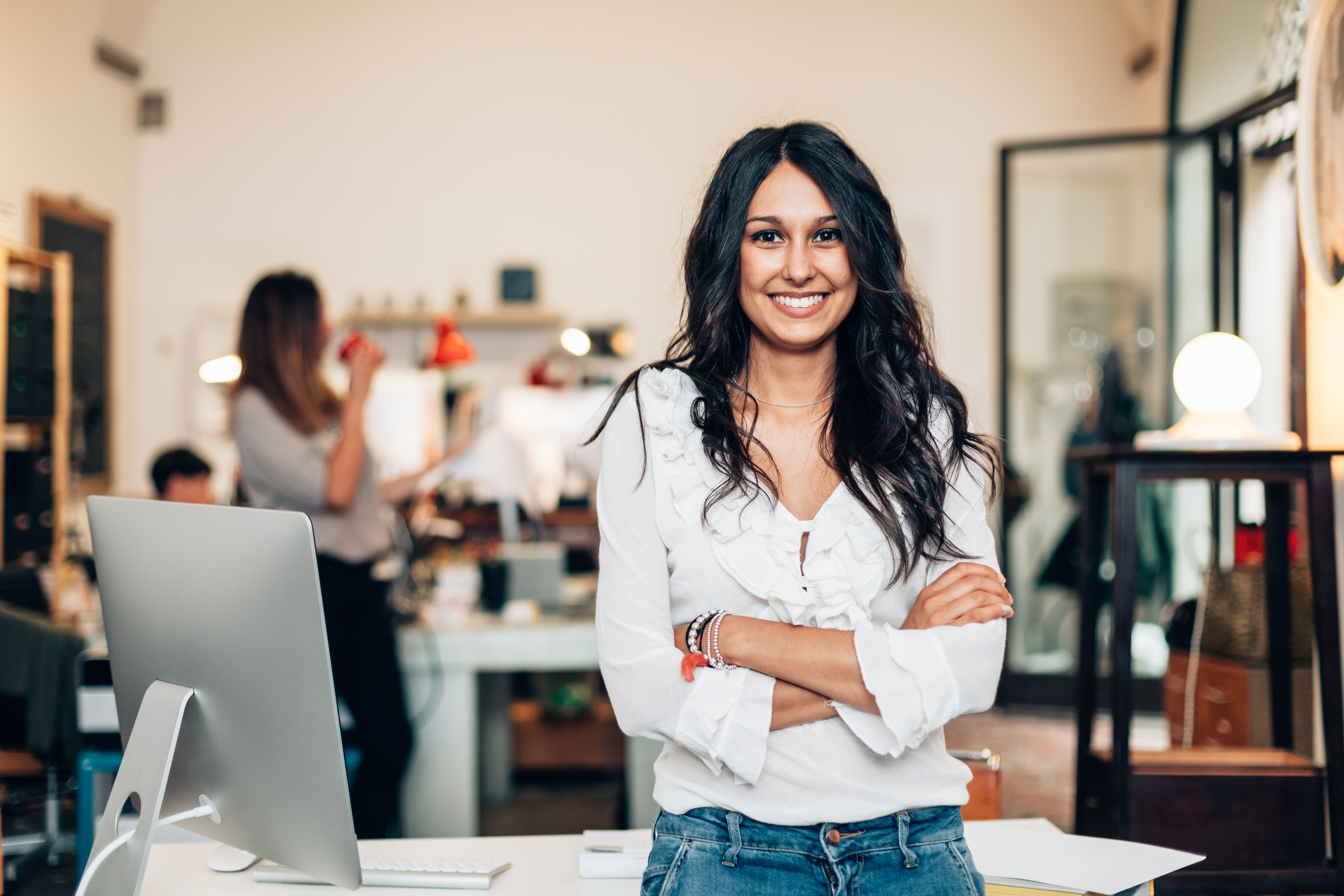 Young female business owner
